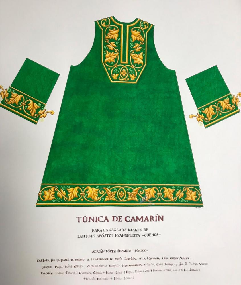 Nueva túnica para capilla de la Hermandad de San Juan Evangelista