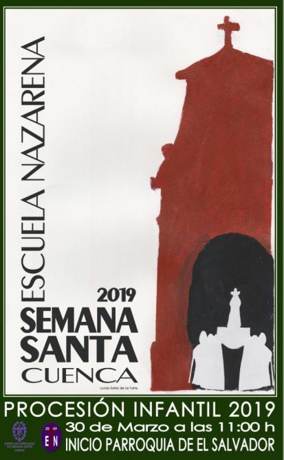 Cartel de la procesión infantil 2019 en Cuenca.