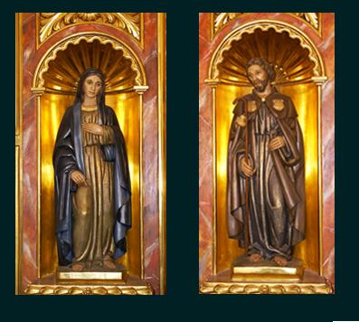 Figuras de la capilla